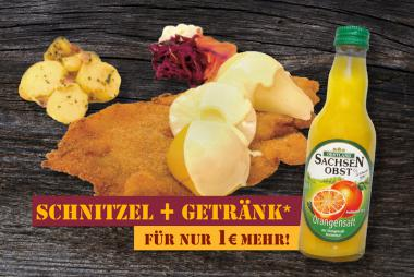 ''DAMENSCHNITZEL + Getränk''