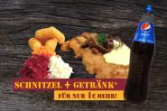 """SCHNITZEL """"FÖRSTERIN + Getränk"""""""